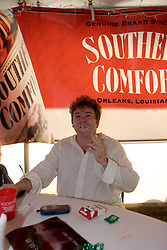 29 Oct, 2005.  New Orleans, Louisiana. Post Katrina.<br /> Let the good times roll. Voodoo Fest tribute concert at Riverview Park. Adrian.<br /> Photo; ©Charlie Varley/varleypix.com