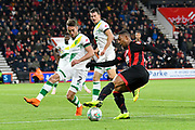 Jordon Ibe (10) of AFC Bournemouth during the EFL Cup 4th round match between Bournemouth and Norwich City at the Vitality Stadium, Bournemouth, England on 30 October 2018.