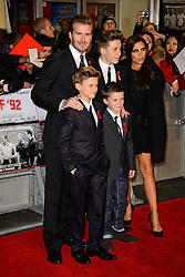 David Beckham and Victoria Beckham attend The World Premiere of 'The Class of 92'. Odeon West End, London, United Kingdom. Sunday, 1st December 2013. Picture by Chris Joseph / i-Images