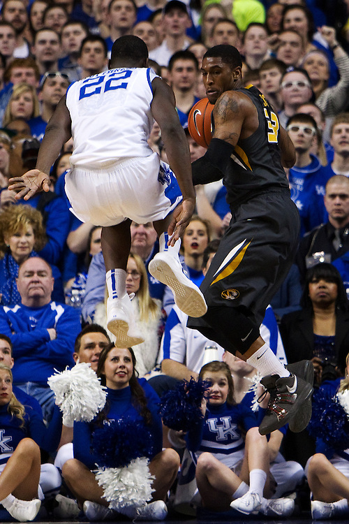 The University of Kentucky Men's Basketball team hosted Missouri , Saturday, Feb. 23, 2013 at Rupp Arena in Lexington .
