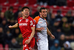 January 13, 2019 - Dijon, France - Ellyes Skhiri ( Montpellier ) - Chang Hoon Kwon  (Credit Image: © Panoramic via ZUMA Press)