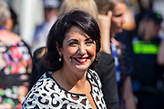 Tweede Kamervoorzitter Khadija Arib aanwezig bij de viering van 75 jaar vrijheid in Terneuzen.
