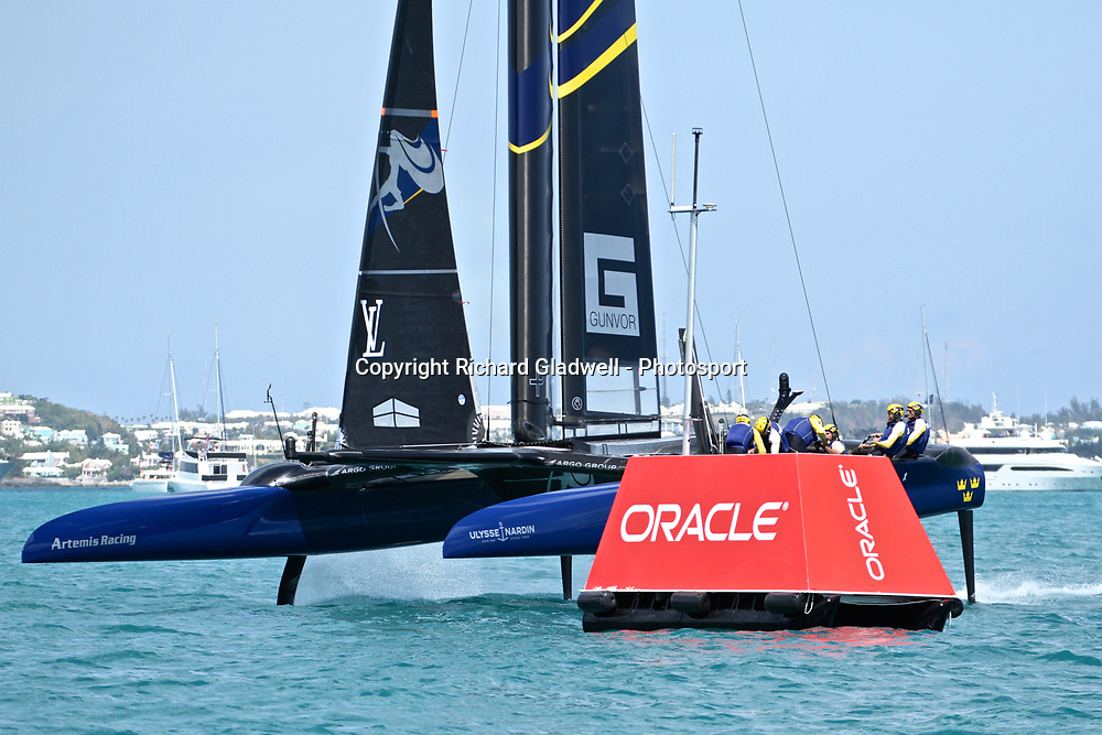 Race 10 - Artemis Racing leads at the top mark for the first time   - 35th America's Cup - Bermuda  May 28, 2017 . Copyright Image: Richard Gladwell / Sail World / www.photosport.nz