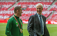 FOOTBALL: Assistant Manager Robbie Keane and Manager Mick McCarthy (Ireland) before the EURO 2020 Qualifier match between Denmark and Ireland at Parken Stadium on June 7, 2019 in Copenhagen, Denmark. Photo by: Claus Birch / ClausBirchDK.