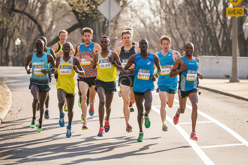BAA 5K, pack of leading men, led by Rutto