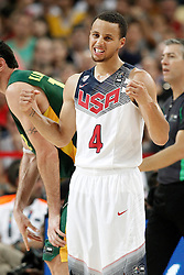 11.09.2014, City Arena, Barcelona, ESP, FIBA WM, USA vs Litauen, Halbfinale, im Bild USA's Stephen Curry // during FIBA Basketball World Cup Spain 2014 semi-final match between United States and Lithuania at the City Arena in Barcelona, Spain on 2014/09/11. EXPA Pictures © 2014, PhotoCredit: EXPA/ Alterphotos/ Acero<br /> <br /> *****ATTENTION - OUT of ESP, SUI*****