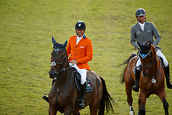Dubbeldam Jeroen, Beerbaum Ludger, Opening ceremony, Guest country, The Netherlands<br /> CHIO Aachen 2017<br /> © Hippo Foto - Dirk Caremans<br /> 18/07/2017