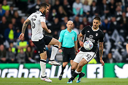 Bradley Johnson of Derby County takes on Aleksandar Mitrovic of Fulham - Mandatory by-line: Robbie Stephenson/JMP - 11/05/2018 - FOOTBALL - Pride Park Stadium - Derby, England - Derby County v Fulham - Sky Bet Championship