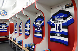 A general view of the home changing rooms - Mandatory byline: Patrick Khachfe/JMP - 07966 386802 - 30/03/2018 - RUGBY UNION - Kingsholm Stadium - Gloucester, England - Bath Rugby v Exeter Chiefs - Anglo-Welsh Cup Final