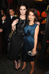 Left to right, ERIN O'CONNOR and HADLEY FREEMAN at a party hosted by Mulberry to celebrate the publication of The Meaning of Sunglasses by Hadley Freeman held at Mulberry 41-42 New Bond Street, London on 14th February 2008.<br />