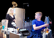 Touch <br /> by Vicky Jones <br /> at Soho Theatre, London, Great Britain <br /> press photocall 11th July 2017 <br /> <br /> <br /> <br /> Matthew Aubrey as Sam <br /> <br /> <br /> Amy Morgan as Dee <br /> <br /> <br /> <br /> <br /> Photograph by Elliott Franks <br /> Image licensed to Elliott Franks Photography Services