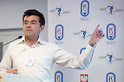 Ph. D. Karim Chamari talks while his scholarship in Sport's Intitut in Warsaw, Poland. Ph. D. Karim Chamari is University Professor at ISSEP Ksar-Said, University of Manouba, Tunis, Tunisia. Ph. D. Karim Chamari is Senior Researcher at Aspetar - Qatar Orthopaedic and Sports Medicine &amp; Education Centre.<br /> <br /> Poland, Warsaw, November 23, 2013<br /> <br /> Picture also available in RAW (NEF) or TIFF format on special request.<br /> <br /> For editorial use only. Any commercial or promotional use requires permission.<br /> <br /> Mandatory credit:<br /> Photo by &copy; Adam Nurkiewicz / Mediasport