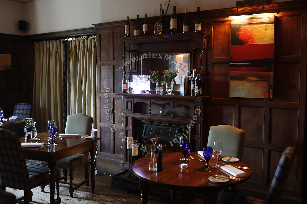 The Burythorpe Country House's restaurant is ready for guests in Burythorpe, Yorkshire, England, United Kingdom.