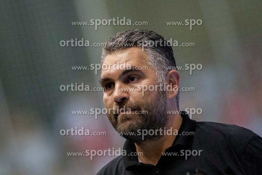 Head coach of Slovenia, Boris Denic during handball match between National teams of Slovenia and Hungary in play off of 2015 Men's World Championship Qualifications on June 15, 2014 in Rdeca dvorana, Velenje, Slovenia. Photo by Urban Urbanc / Sportida
