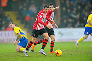 Exeter City's Alex Nicholls during the Sky Bet League 2 match between Exeter City and Accrington Stanley at St James' Park, Exeter, England on 23 January 2016. Photo by Graham Hunt.