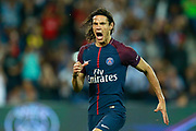 Paris Saint Germain's Uruguayan forward Edinson Cavani celebrates after scoring during the French championship L1 football match between Paris Saint-Germain (PSG) and Saint-Etienne (ASSE), on August 25, 2017 at the Parc des Princes in Paris, France - Photo Benjamin Cremel / ProSportsImages / DPPI