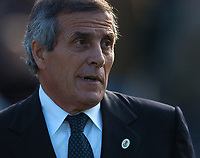 Uruguay's Head coach OSCAR TAVAREZ during the match  against Bolivia during their 2010 World Cup qualifying soccer match in Montevideo, October 13, 2007<br /> URUGUAY beat BOLIVIA by 5-0. at the Centenario Stadium in MOntevideo Uruguay.<br /> © PikoPress