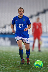 CESENA, ITALY - Tuesday, January 22, 2019: Italy's Valentina Cernoia during the International Friendly between Italy and Wales at the Stadio Dino Manuzzi. (Pic by David Rawcliffe/Propaganda)
