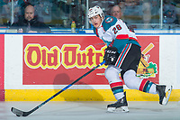 KELOWNA, CANADA - APRIL 30: Leif Mattson #28 of the Kelowna Rockets skates against the Seattle Thunderbirds on April 30, 2017 at Prospera Place in Kelowna, British Columbia, Canada.  (Photo by Marissa Baecker/Shoot the Breeze)  *** Local Caption ***