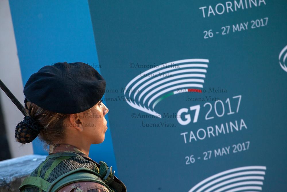 Imponenti le misure di sicurezza per il summit G7 di Taormina.