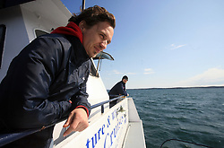 Boris Pretnar of Slovenian National Ice-hockey Team at whale watching boat, during IIHF WC 2008 in Halifax, on May 07, 2008, sea at Halifax, Nova Scotia,Canada.(Photo by Vid Ponikvar / Sportal Images)