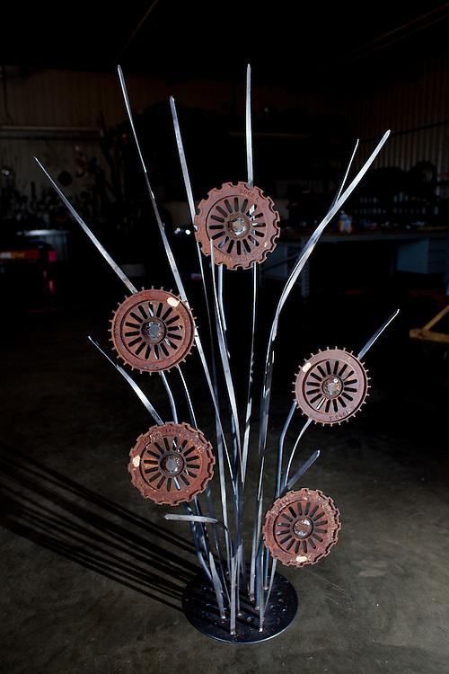 Mel Schappert specializes in custom plasma cutting, metal sculpture, rock and flower yard art designs. Rebecca F. Miller/Freelance for The Gazette