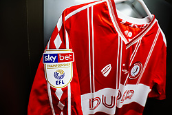 One-off 125th Anniversary shirt hangs in the Bristol City dressing room - Rogan/JMP - 07/03/2020 - Ashton Gate Stadium - Bristol, England - Bristol City v Fulham - Sky Bet Championship.