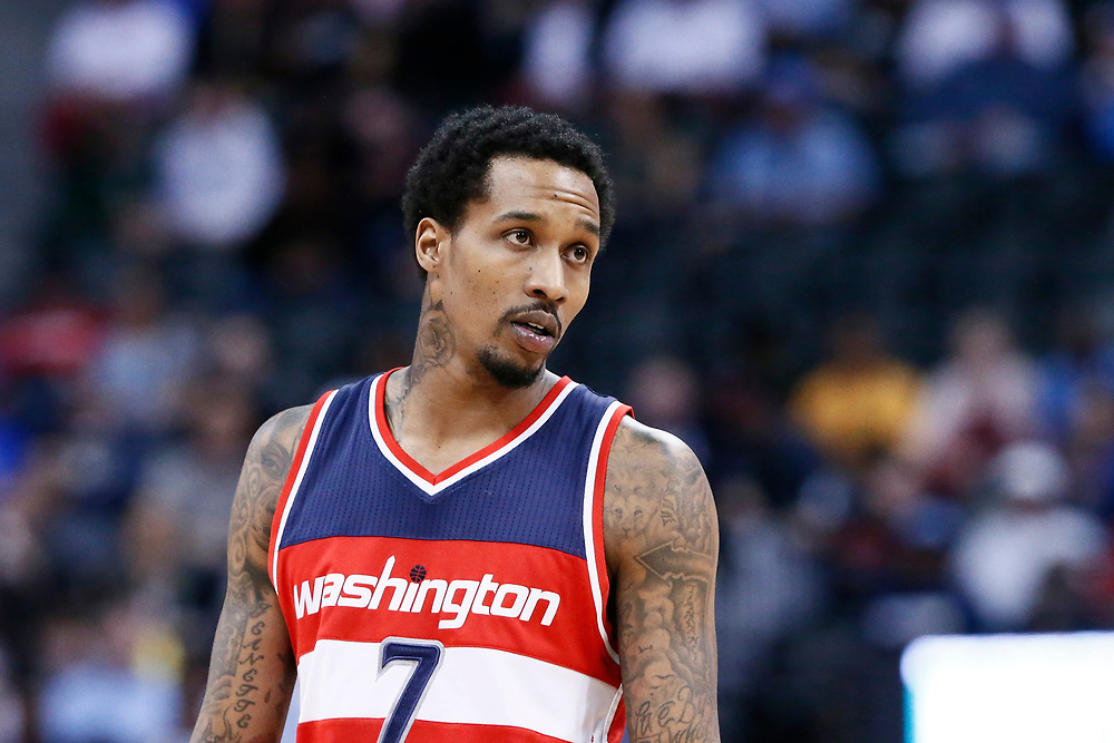08 March 2017: Washington Wizards guard Brandon Jennings (7) rests during the Washington Wizards 123-113 victory over the Denver Nuggets, at the Pepsi Center, Denver, Colorado, USA.