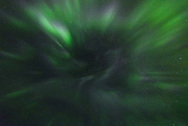 During the most intense part of the geomagnetic storm, I looked straight up and this is what I saw. It's known as a corona, and it looks like the aurora is radiating outward from a single point in the sky. This was the first time I've seen a corona and it didn't last long.