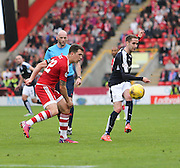 Dundee's Nick Ross and Aberdeen&rsquo;s Ryan Jack - Aberdeen v Dundee at Pittodrie<br /> - Ladbrokes Premiership<br /> <br />  - &copy; David Young - www.davidyoungphoto.co.uk - email: davidyoungphoto@gmail.com