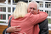 The connections of FRANCIS XAVIER after the horse wins The Hanson Springs Stakes over 1m 2f (£19,000) during the Newby and the Press Family Raceday at York Racecourse, York, United Kingdom on 9 September 2018. Picture by Mick Atkins.