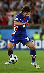Niko Kovac of Croatia during the UEFA EURO 2008 Quarter-Final soccer match between Croatia and Turkey at Ernst-Happel Stadium, on June 20,2008, in Wien, Austria. Turkey won after penalty shots. (Photo by Vid Ponikvar / Sportal Images)