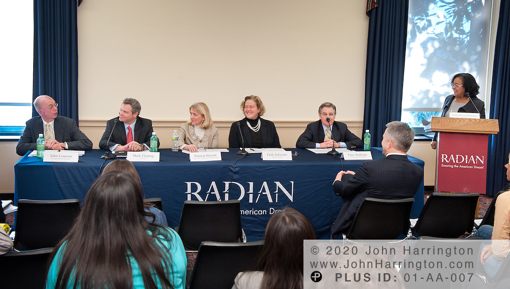 A panel discussion on housing finance reform presented by Radian at the Rayburn House Office Building in Washington, DC on January 21st, 2011.