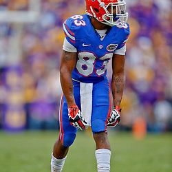 Oct 12, 2013; Baton Rouge, LA, USA; Florida Gators wide receiver Solomon Patton (83) against the LSU Tigers during the second half of a game at Tiger Stadium. LSU defeated Florida 17-6. Mandatory Credit: Derick E. Hingle-USA TODAY Sports