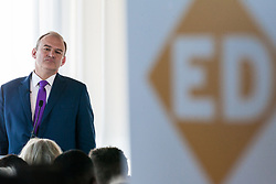 London, UK. 30 May, 2019. Ed Davey, Liberal Democrat MP for Kingston and Surbiton and former Secretary of State for Energy and Climate Change, makes a speech in central London as he launches his campaign for the party leadership following excellent results for the party in the recent European and local elections. Credit: Mark Kerrison/Alamy Live News