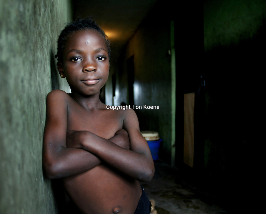 Streetkid in a slum area around lagos, capital of Nigeria