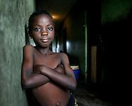 Streetkid in a slum area around lagos, capital of Nigeria