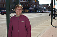 Deb Turnball along Bremer Avenue in downtown Waverly, Iowa on Thursday March 19, 2009.
