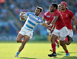 Martin Landajo of Argentina takes on the Tonga defence - Mandatory byline: Patrick Khachfe/JMP - 07966 386802 - 04/10/2015 - RUGBY UNION - Leicester City Stadium - Leicester, England - Argentina v Tonga - Rugby World Cup 2015 Pool C.