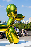 balloon dog at Jeff Koons on the Roof of Metropolitan Museum of Art in New York City in October 2008