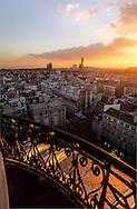 France. Paris. elevated view. Paris view from  the dome of the institute,
