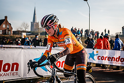 MILLER Amanda (USA) during Women Elite race, UCI Cyclo-cross World Cup #8 at Hoogerheide, Noord-Brabant, The Netherlands, 22 January 2017. Photo by Pim Nijland / PelotonPhotos.com | All photos usage must carry mandatory copyright credit (Peloton Photos | Pim Nijland)