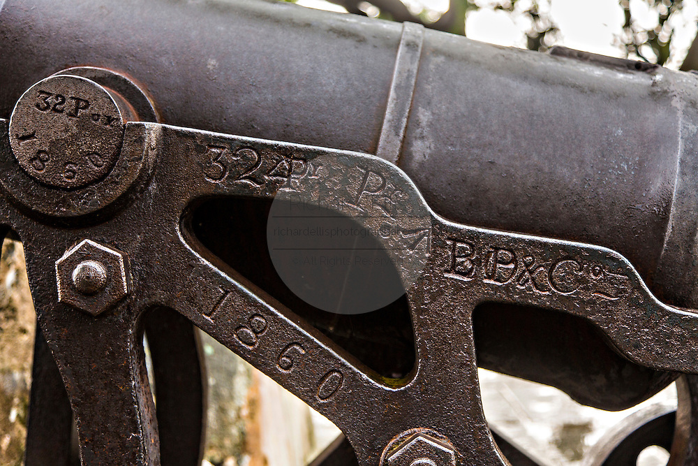 Engraving on a cannon in Fortaleza do Monte or Monte Forte Macau.