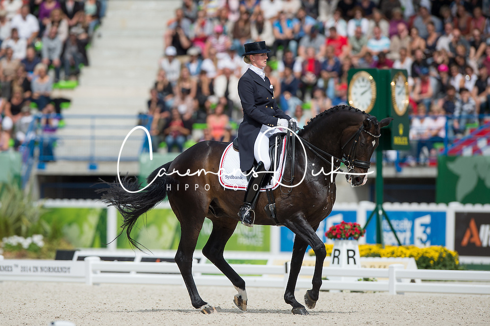 Nathalie Zu Sayn Wittgenstein, (DEN), Digby - Freestyle Grand Prix Dressage - Alltech FEI World Equestrian Games™ 2014 - Normandy, France.<br /> © Hippo Foto Team - Jon Stroud<br /> 25/06/14