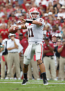COLUMBIA - SEPTEMBER 11:  Quarterback Aaron Murray #11 of the Georgia Bulldogs throws a pass during the game against the South Carolina Gamecocks at Williams-Brice Stadium on September 11, 2010 in Columbia, South Carolina.  The Gamecocks beat the Bulldogs 17-6.  (Photo by Mike Zarrilli/Getty Images)
