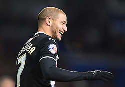 Watford's Adlene Guedioura celebrates his second goal at Cardiff City Stadium - Photo mandatory by-line: Paul Knight/JMP - Mobile: 07966 386802 - 28/12/2014 - SPORT - Football - Cardiff - Cardiff City Stadium - Cardiff City v Watford - Sky Bet Championship