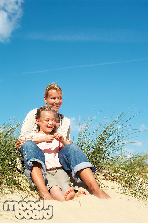 Mother and Daughter on Dunes