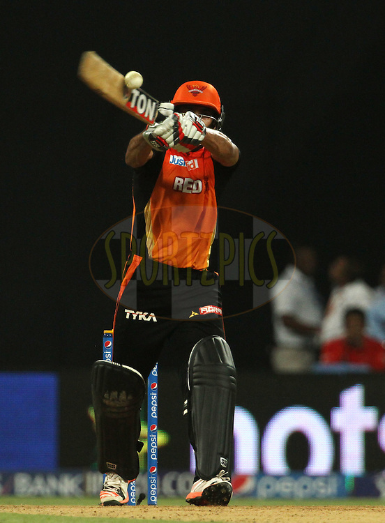 Sunrisers Hyderabad player Ravi Bopara plays a shot during match 23 of the Pepsi IPL 2015 (Indian Premier League) between The Mumbai Indians and The Sunrisers Hyderabad held at the Wankhede Stadium in Mumbai India on the 25th April 2015.<br /> <br /> Photo by:  Vipin Pawar / SPORTZPICS / IPL
