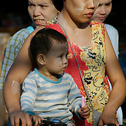 A burmese mother and child. Mae Sot on the Thai-Burmese border.
