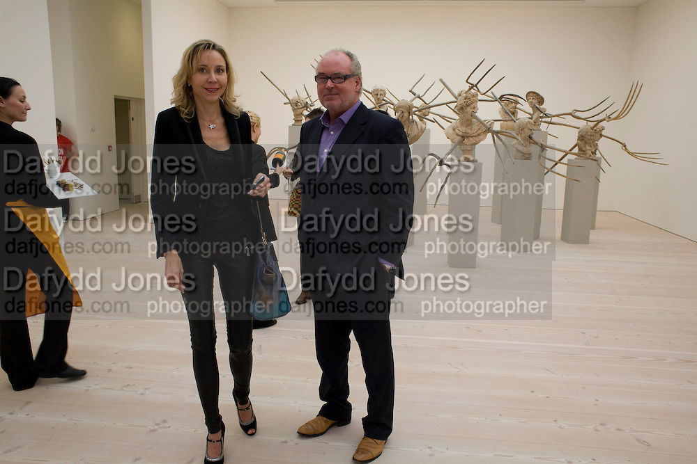 DR. MICHAELA NEUMEISTER; HEINRICH ACKERMANS, The Revolution Continues: New Art From China. The opening of the New Saatchi Gallery. King's Rd.  London. 7 October 2008. *** Local Caption *** -DO NOT ARCHIVE-© Copyright Photograph by Dafydd Jones. 248 Clapham Rd. London SW9 0PZ. Tel 0207 820 0771. www.dafjones.com.